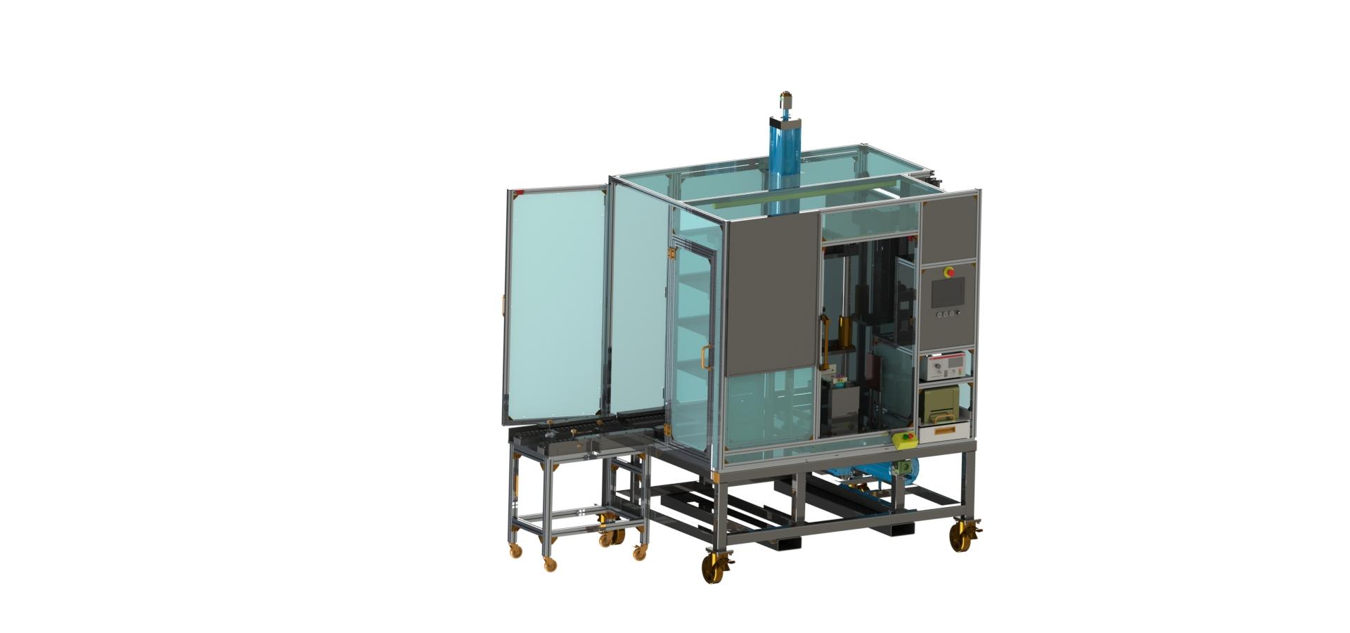 Fuel filter leak test station